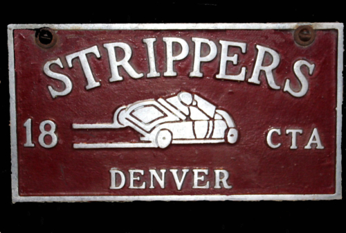 Strippers Plaque